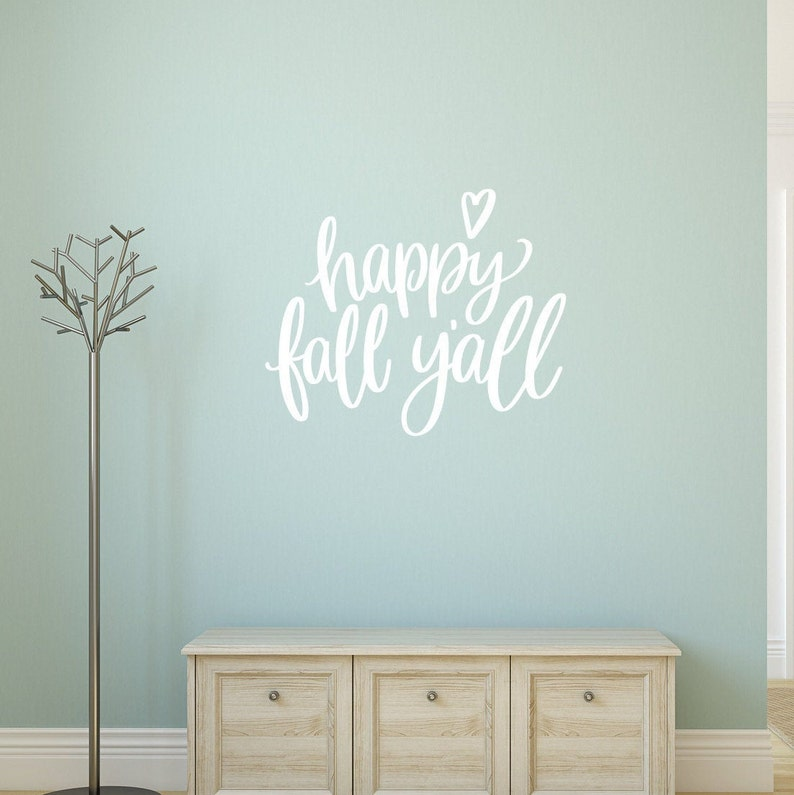 Happy Fall YAll Vinyl Wall Decal Fall Decal Fall Decor image 0
