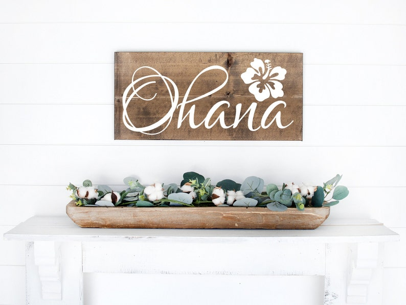 Ohana Sign  Wood Sign  Beach Sign  Rustic Sign  Beach image 0