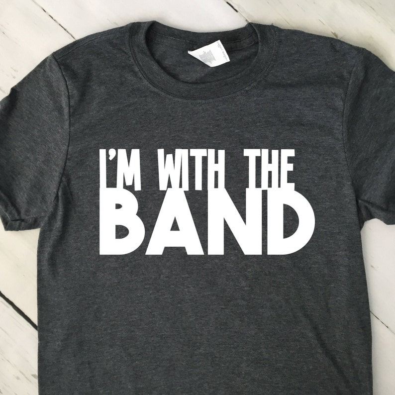 Marching Band T Shirt  Im With The Band T Shirt  Mom Shirt  image 0
