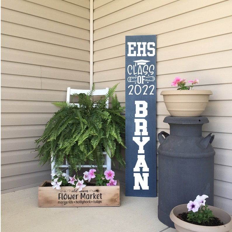 Senior Front Porch Sign  Class of 2022  Custom Name Sign  image 0