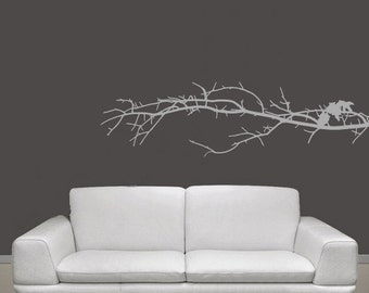 Tree Branch Vinyl Wall Decal - Tree Branch Decal - Tree Branch Wall Decor - Nature Wall Decor 22112