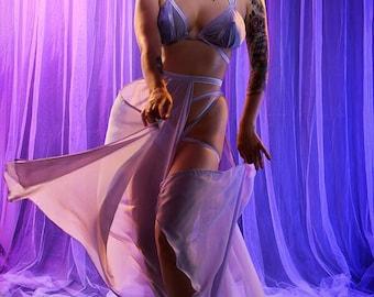 Burlesque chiffon simple budget panel skirt