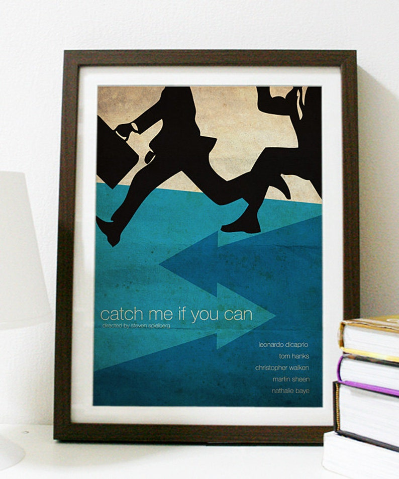 Catch Me If You Can Movie Poster Etsy
