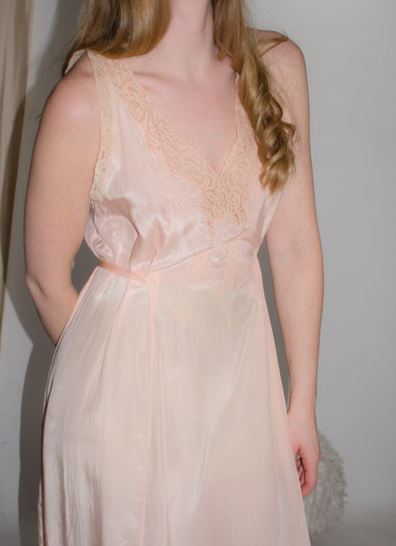 1920s Silk Night Gown  Medium