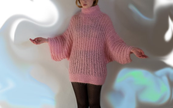 Amazing Hand Knit Mohair Sweater Oversized