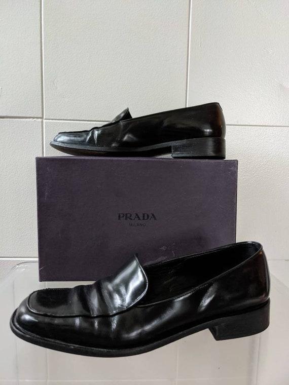 Ladies Size 9.5 1990s PRADA loafers - image 1