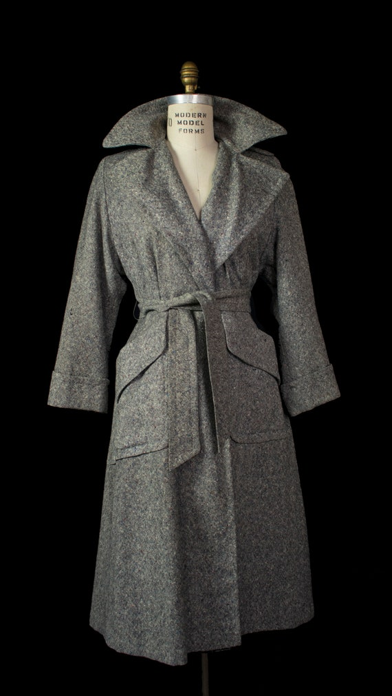 Rare 1940s Donegal Tweed Rainbow Fleck Duoliner Pr