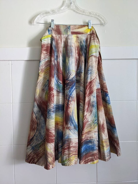 1950s Maya Mexican Hand Painted Circle Skirt