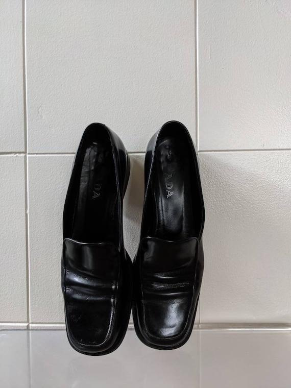 Ladies Size 9.5 1990s PRADA loafers - image 3
