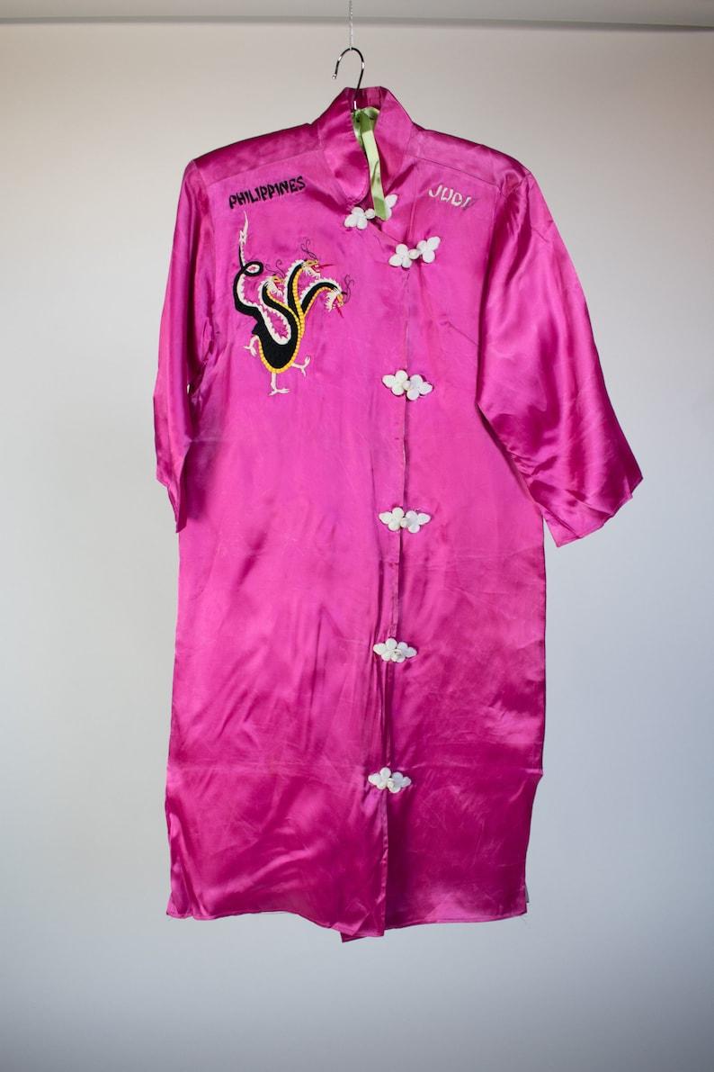 11cd1854d9 3 Headed Dragon 1940s Souvenir Robe Dress Philippines Small | Etsy