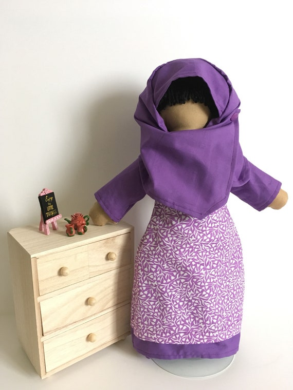 Lil' Muslimah in Purple
