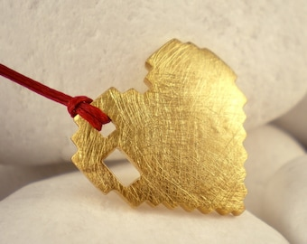 Love Bytes - Gold Plated Solid Sterling Silver Pendant (M)