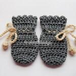 Crochet Pattern 115 - Crochet Mitten Pattern for Baby Thumb-less Grey Mittens - Crochet Patterns - Crochet Glove Pattern - Baby Mittens Hat