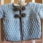 Crochet Pattern 192 - Diamond Baby Jacket 3, 6, 12, 24 months Baby Jacket Toddler Sweater Baby Girl Baby Boy Winter Sweater Cardigan Coat