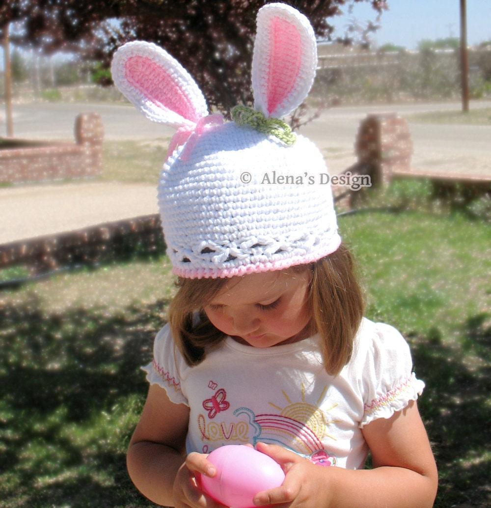 Crochet Pattern 012 Bunny Hat Pattern Baby Girl Baby Boy Etsy
