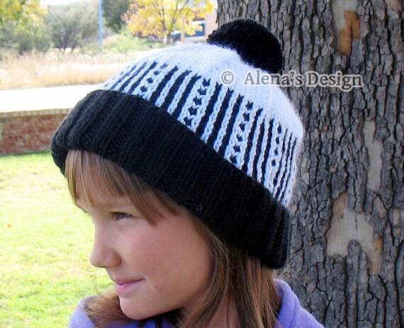 Knitting Pattern 148 Knit Hat Pattern Diane Pom Pom Hat Etsy