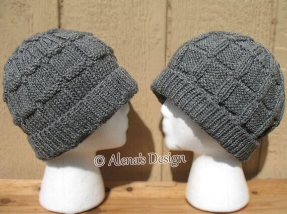 Knitting Pattern 172 Knitting Hat Pattern Men s Beanie Hat  3fbe21821be