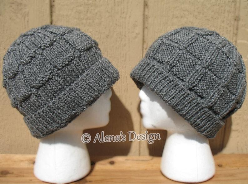 new arrival f7529 f23e3 Knitting Pattern 172 Men s Beanie Hat Slouchy Beanie Child   Etsy