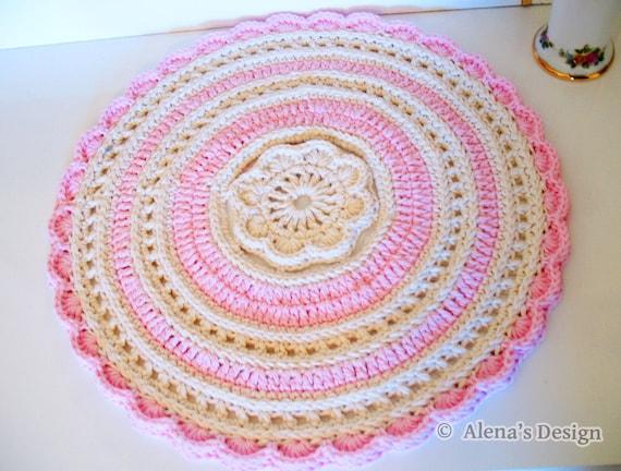 Crochet Placemat Pattern 156 Graceful Flower Placemat Etsy