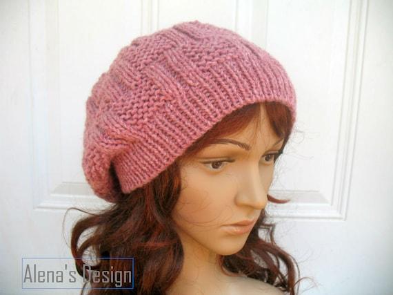 Knitting Hat Pattern 162 Danny Slouchy Hat Beanie Knitting Etsy