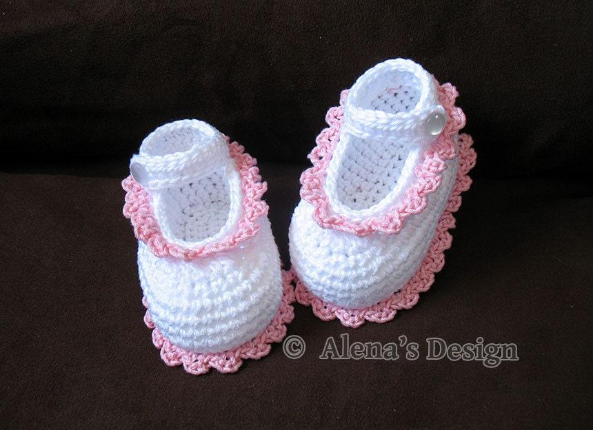 Gloria Baby Shoes Crochet Pattern 077 Crochet Shoe Pattern Etsy