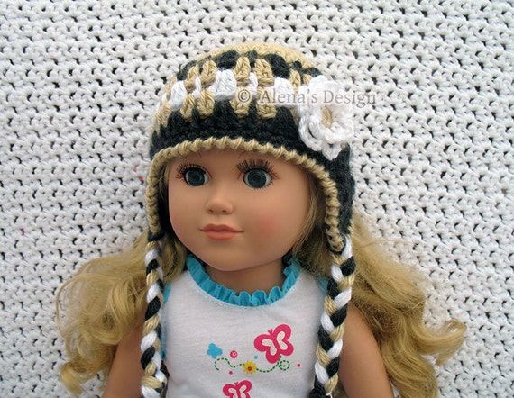 Crochet Pattern 127 Crochet Hat Pattern For 18 Inch Doll Etsy