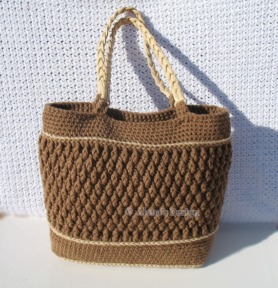 Crochet Pattern 176 Crochet Tote Bag Pattern Shoulder Bag Etsy