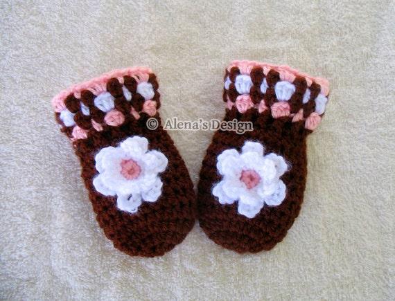 Crochet Pattern 034 Baby Mittens Pattern Baby Thumb Less Etsy