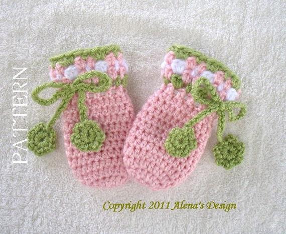 Crochet Pattern 036 Crochet Mitten Pattern For Baby Etsy