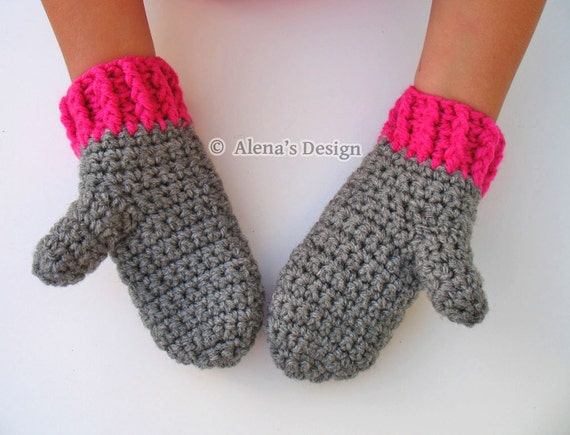 Crochet Pattern 104 Crochet Mitten Pattern For Childrens Etsy