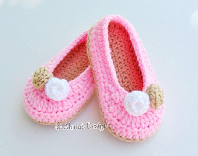 5805a547ced27 Crochet Pattern 109 - Crochet Slipper Pattern for Toddler Rose Slippers  Christmas Slippers Crochet Booties Pattern Girls Slippers Pink Red