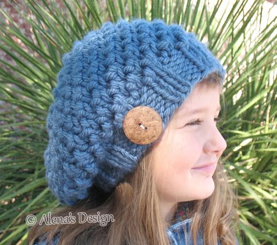Knitting Pattern 094 Slouchy Hat Knitting Pattern Knitting Etsy