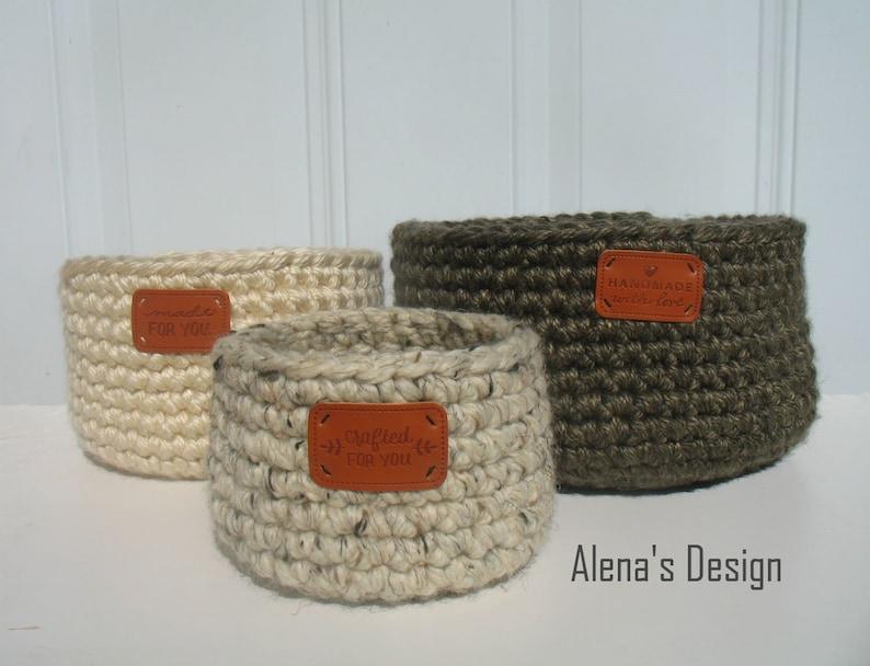 Easy Crocheted Baskets Crochet Pattern 214 Nesting Baskets Diy Etsy