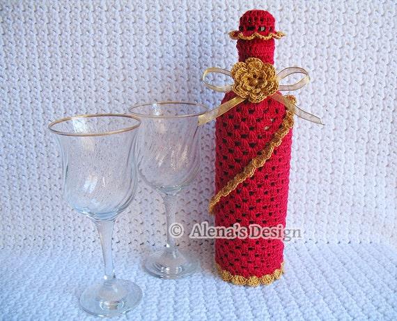 Crochet Pattern 121 Crochet Wine Bottle Cover Pattern 750 Etsy
