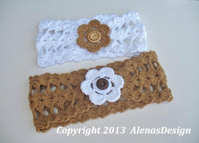 Crochet Headband Pattern 078 Lace Warmer Head Wrap Crocheted Etsy