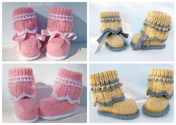 Knitting Pattern 185 Knitting Booties Pattern Knitting Etsy