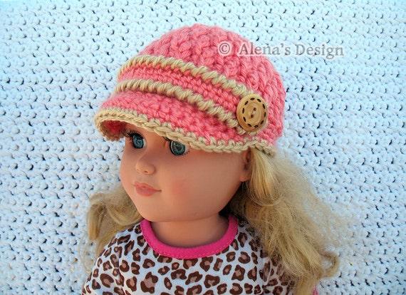Crochet Pattern 122 Crochet Hat Pattern For 18 Inch Doll Etsy