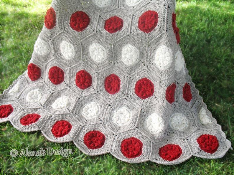 Crochet Pattern 212 Hexagon Flower Blanket Crochet Blanket Etsy
