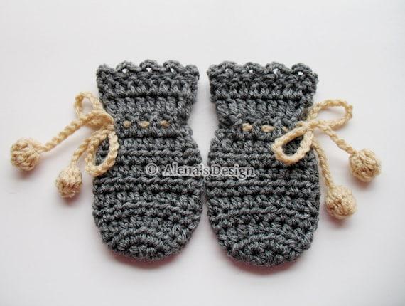 Crochet Pattern 115 Crochet Mitten Pattern For Baby Etsy