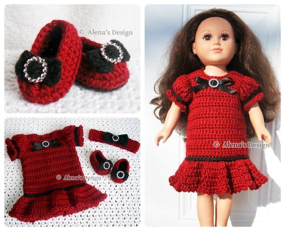 Crochet Pattern 3 Pc Set For 18 In Doll Crochet Patterns Etsy