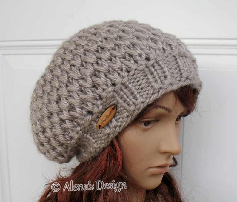 ee34fd4737a Knitting Pattern 198 Honeycomb Slouchy Hat