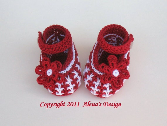 Knitting Booties Pattern 032 For Knit Baby Shoes Booties Etsy