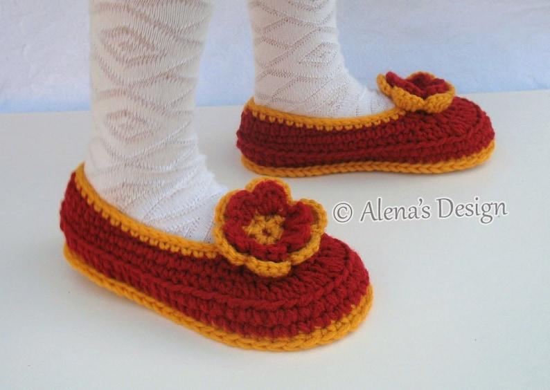 389f9d42ea6bf Crochet Pattern 068 Children's Slippers Crochet Slipper Pattern Youth Size  Booties Pattern Child Shoes Girl Boy Children Toddler Christmas