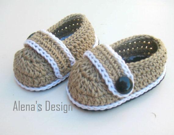 Crochet Pattern 209 Crochet Baby Shoes Crochet Patterns Brain Etsy