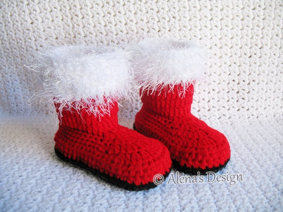 b1a00058aa Crochet Pattern 108 Toddler Santa Booties Boys Girls Child