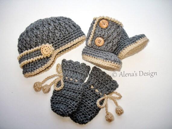Crochet Pattern Set Crochet Patterns Two Button Baby Etsy