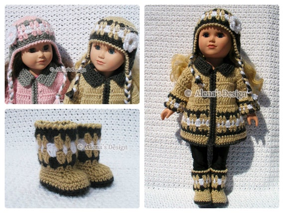 18 Inch Doll Clothes Crochet Patterns 18 In American Doll Etsy