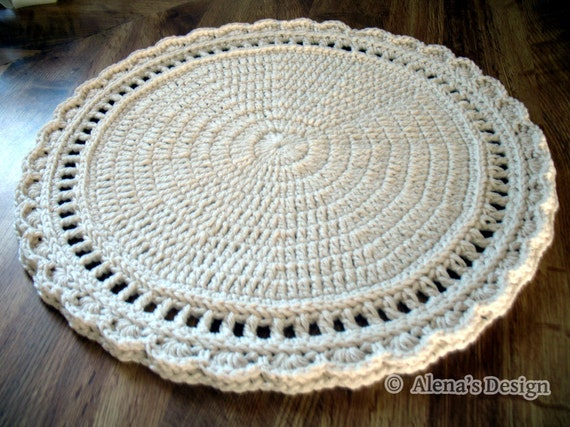 Crochet Patterns Placemat Pattern Crochet Coaster Floral Style Etsy