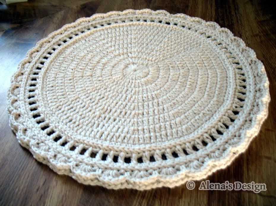 Crochet Placemat Pattern 154 Floral Style Placemat Crochet Etsy