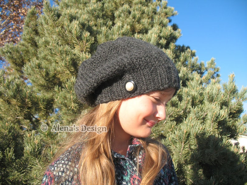 6170738b75314f Knitting Pattern 158 Ana Slouchy Beanie Hat | Etsy